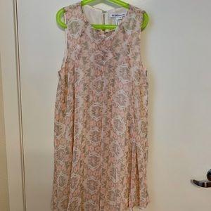 BCBGeneration Sleeveless Lace Trapeze Dress